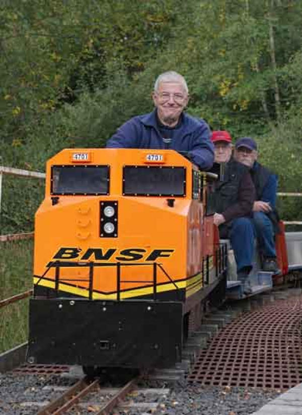 "Martyn this is very sad news,he was so full of life, we will never forget his visit with ""Tango"" with yourself to our track earlier in the year and as you say he encouraged everyone and was happy to let us drive his locos.Please pass on our condolences from all at SMET"