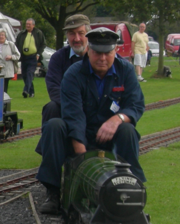 John, for those who maybe didn't know Alan quite as well as us, here is a photo of him riding pillion on Pete Lawson's Flying Scotsman at the 2009 AGM at Leyland.