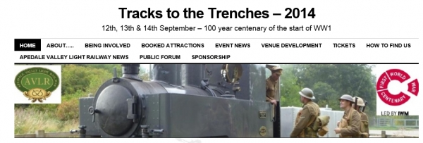 Tracks to the Trenches – 12 - 14 September 2014