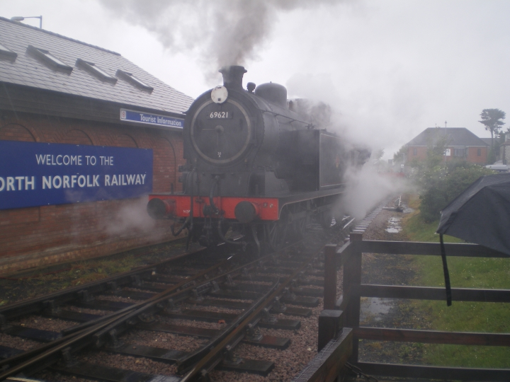 Brief shower sent visitors to the North Norfolk Railway