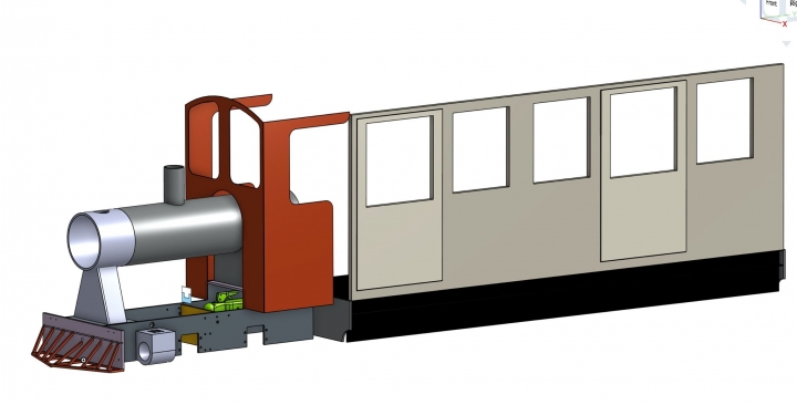 Latest drawing of my steam railcar Coffee Pot