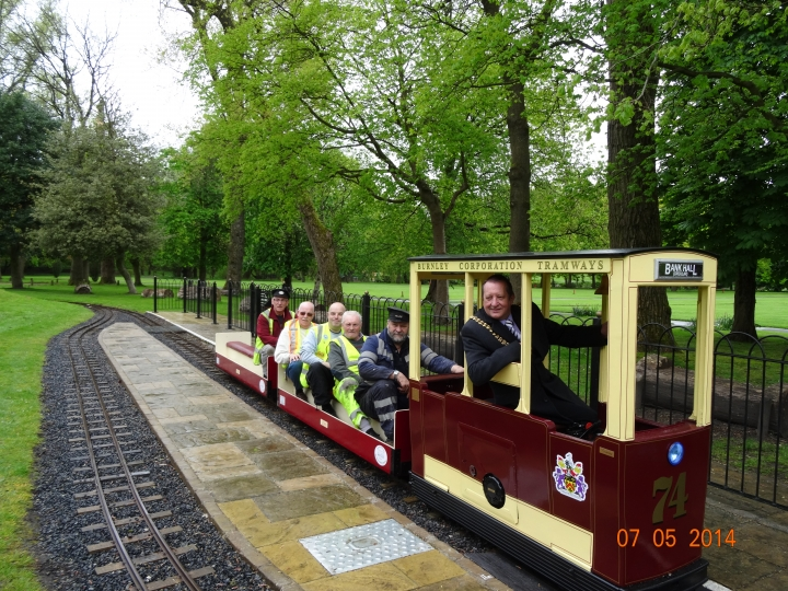 Burnley Corporation Tramways Tram No. 74