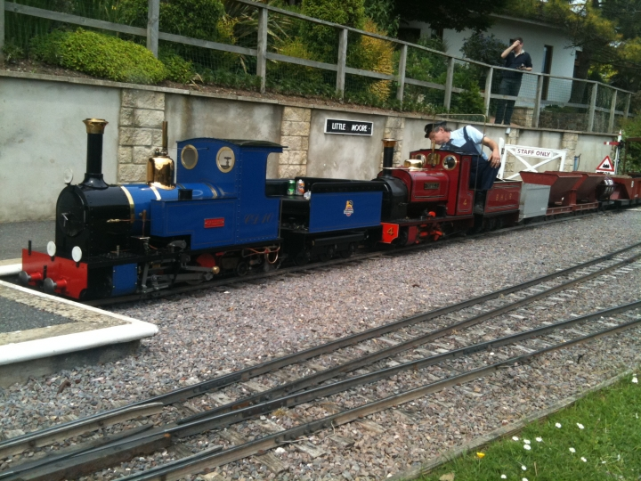 Callum and Thomas II in Little Moore Station BHLR