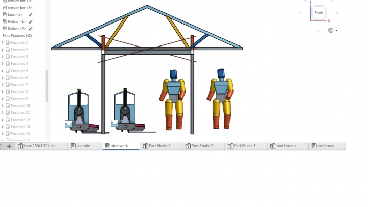 End view of proposed canopy