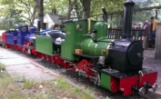 Two Thomas 2s together at Bentley Miniature Railway