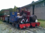 Callum and Captain Hook at Conwy Valley Railway