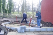Extending the Turn-table at Delapre Park