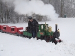 Nestor plowing through Dutch snow at Maasoever