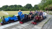 Friends meeting at Isle Abbots Railway