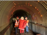 Santa comes to the Bath & West Railway