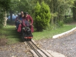 IAN at coate water miniature railway on his A3